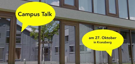 Campus Talk am 27.10.2016 in Kranzberg