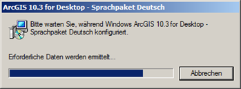 Sprachpaket Deutsch Installation Start