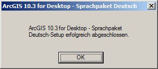 Sprachpaket Deutsch Installation Ende